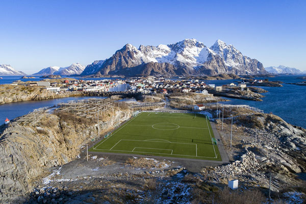 NORWAY-ARCTIC-FOOTBALL-FIFA2018-PITCH-LANDSCAPE